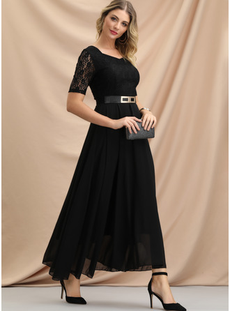 Lace/Chiffon With Lace Maxi Dress