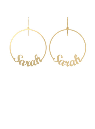 Custom 18k Gold Plated Circle (Set of 2) -