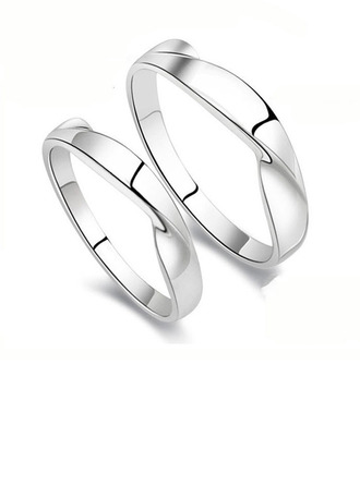 Sterling Silver Couple's Rings