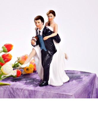 Sports Couple Resin Wedding Cake Topper