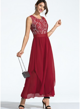 Polyester With Lace Maxi Dress