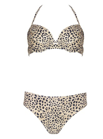 Beautiful Leopard Floral Bikini