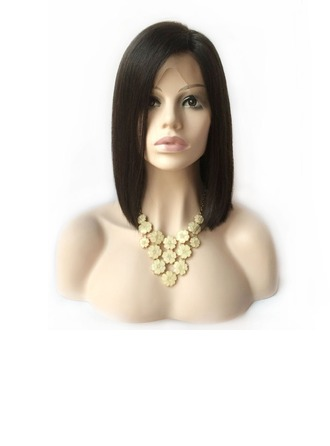 Straight Human Hair Wigs Full Lace Cap