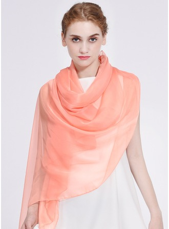 Solid Color Light Weight/Oversized/Shawls Polyester Scarf