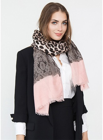 Leopard Oversized/fashion Polyester Scarf