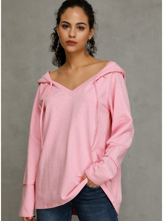 Long Sleeves Polyester Knit Blouses