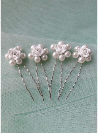 Alloy/Imitation Pearls With Imitation Pearls Hairpins (Set of 5)