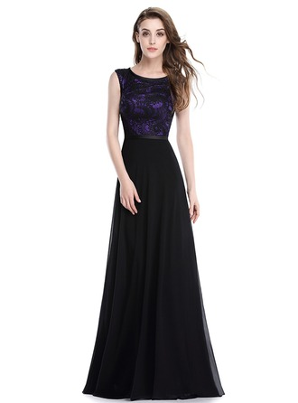 Polyester/Lace/Satin/Silk Blend With Stitching Maxi Dress