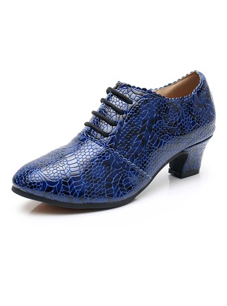 Women's Real Leather Heels Latin Modern Dance Shoes