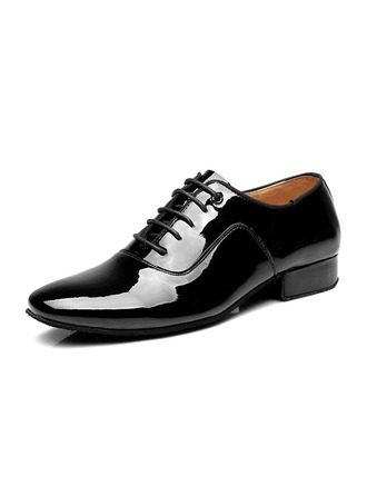 Men's Patent Leather Latin Modern Ballroom Swing Dance Shoes
