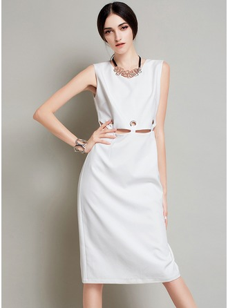 Polyester med Hollow Midi Kle