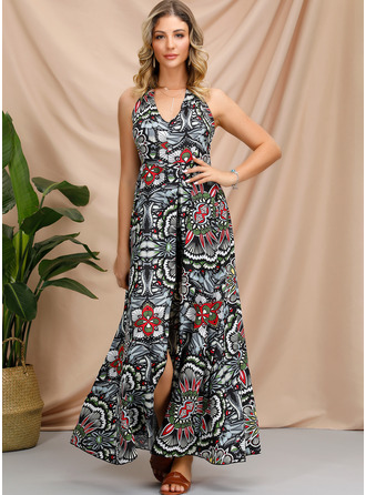Polyester met Print Maximum Jurk