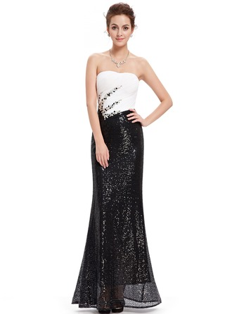 Polyester/Satin/Silk Blend med Beaded/Volang Maxi Kle