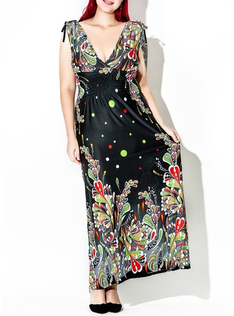 Spandex/Viscose With Print Maxi Dress