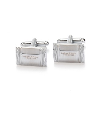 Personalized Classic Alloy Cufflinks (Set of pairs)