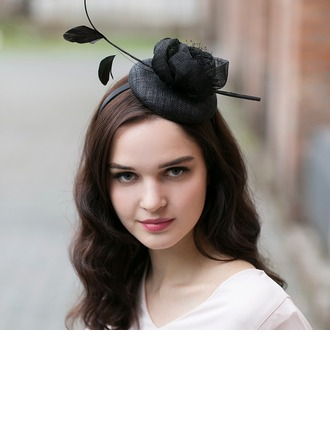 Ladies ' Gorgeous/Glamourøse/Elegant Kambriske med Fjer Fascinators