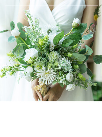 Girly Artificial Flower Bridal Bouquets (Sold in a single piece) -