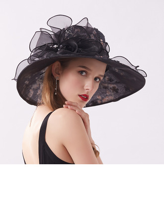 Ladies' Classic/Pretty Silk With Imitation Pearls Beach/Sun Hats/Kentucky Derby Hats/Tea Party Hats