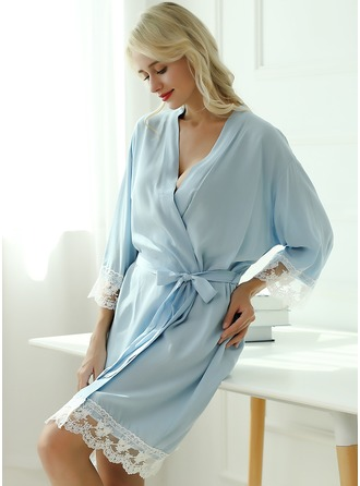Cotton Bride Bridesmaid Blank Robes Lace Robes