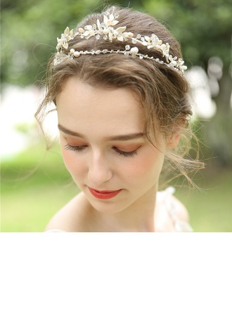 Ladies Beautiful Crystal/Rhinestone/Alloy/Beads Tiaras With Rhinestone/Crystal (Sold in single piece)