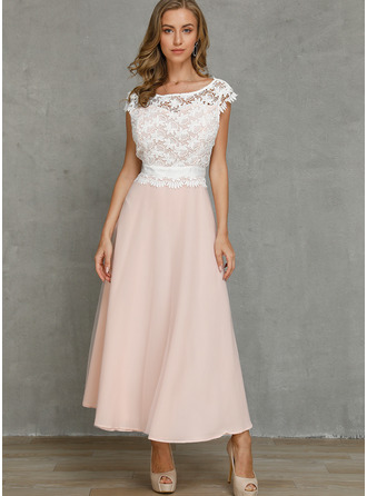 Polyester With Lace/Hollow Maxi Dress