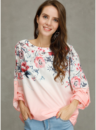 Long Sleeves Cotton Round Neck ()