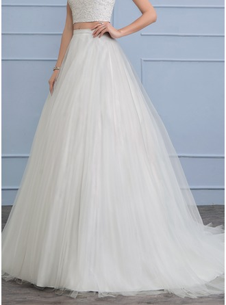 Separates Court Train Tulle Wedding Dress