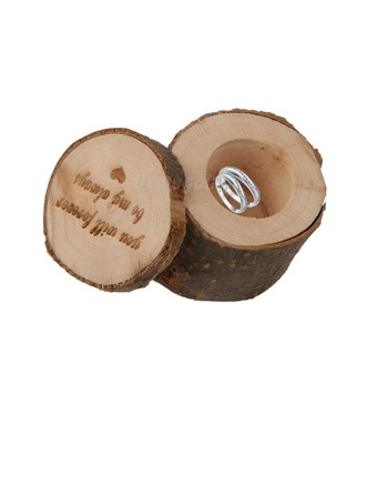 """you will forever be my always""/Shabby Rustic Ring Box in Wood (Set of 3)"