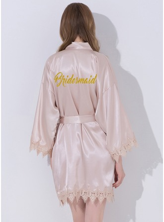 Lace Bridesmaid Lace Robes Glitter Print Robes