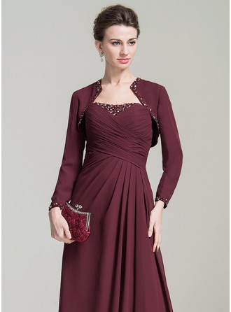 Long Sleeve Chiffon Special Occasion Wrap