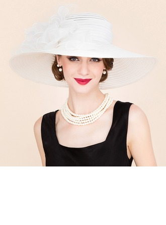 Ladies' Amazing Papyrus/Tulle Floppy Hats/Kentucky Derby Hats/Tea Party Hats
