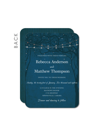Shining Night Wedding Cards