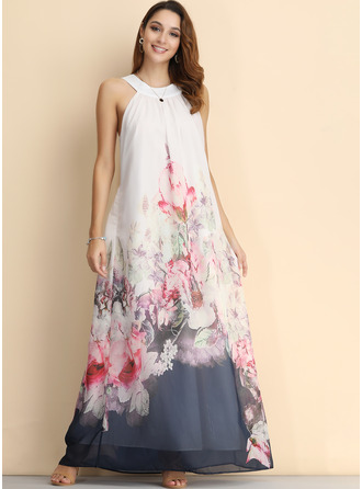 Chiffon With Print Maxi Dress