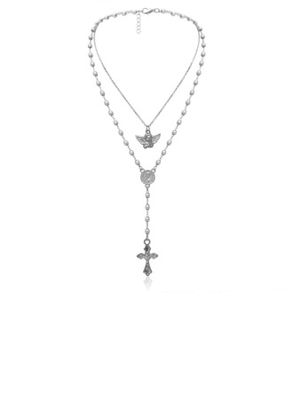 Ladies' Fashionable Alloy/Pearl Imitation Pearls Necklaces