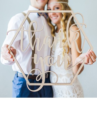 Yksinkertainen/Classic Nizza Puinen Wedding Sign