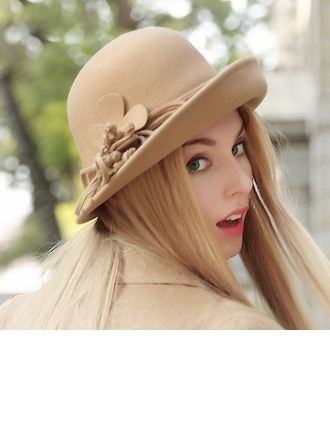 Ladies' Beautiful Wool Bowler/Cloche Hat
