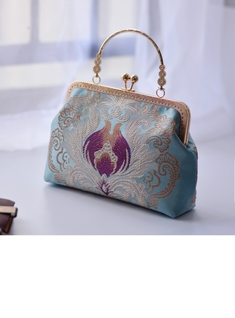 Dumpling Shaped Polyester Clutches/Top Handle Bags