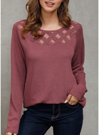 Long Sleeves Polyester Round Neck ()