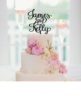 Personalized Bride And Groom Acrylic Cake Topper