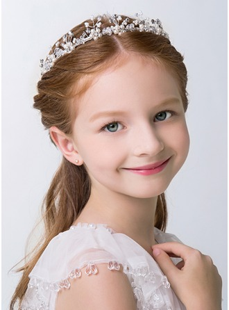 White Alloy Lovely Flower Girl Headbands a57899f68f7