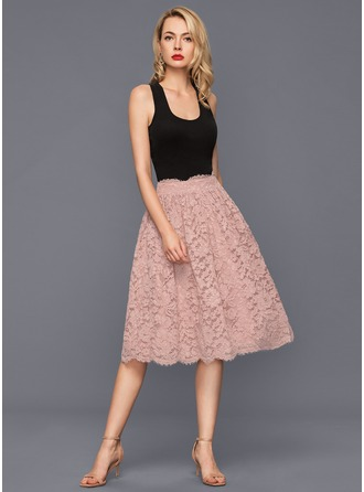 Knee-Length Lace Cocktail Dress