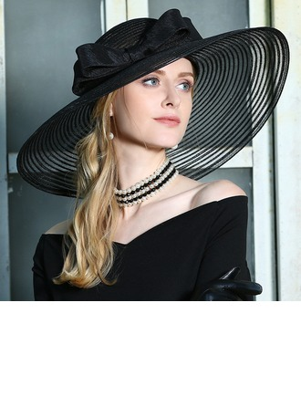 Ladies' Elegant/Eye-catching/High Quality Net Yarn With Flower Beret Hat/Kentucky Derby Hats