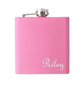 Bridesmaid Gifts - Personalized Classic Stainless Steel Flask