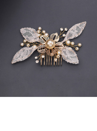 Ladies Beautiful Rhinestone/Imitation Pearls/Lace Combs & Barrettes With Rhinestone/Venetian Pearl (Sold in single piece)