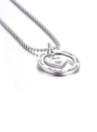 Personalized Ladies' Eternal Love 925 Sterling Silver Name/Engraved/Bar Necklaces For Bride/For Bridesmaid/For Mother/For Friends/For Couple