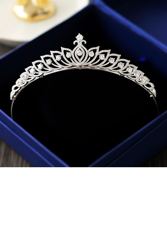 Ladies Exquisite Zircon Tiaras With Cubic Zirconia