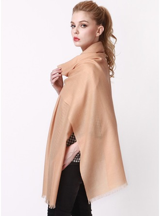 Solid Color Oversized/Shawls/simple Wool Scarf