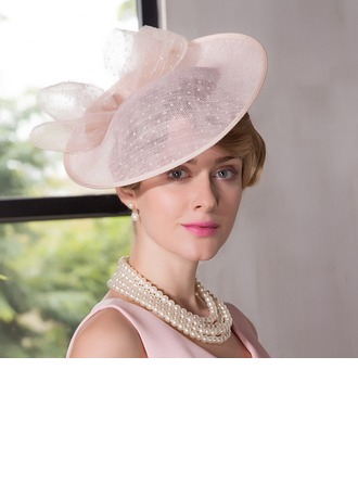 Dames Romantique Batiste Chapeaux de type fascinator/Kentucky Derby Des Chapeaux/Chapeaux Tea Party
