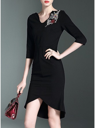 Polyester Above Knee Dress