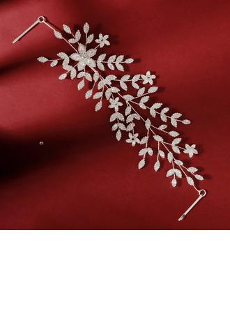 Damer Vakkert Rhinestone/Zirkon Pannebånd med Rhinestone (Selges i ett stykke)